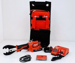 Milwaukee 2678-22o M18 Forcelogic 6t Utility Crimper Kit W/d3 Grooves And Fixdie O