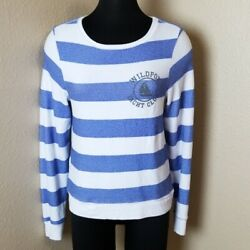 Wiildfox White Label Yacht Club Striped Pullover Sweater Size Xs