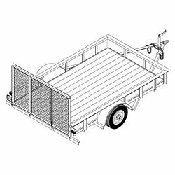 1110 - 6and039 X 10and039 Single Axle 3.5k Utility Trailer Diy Master Plan - 14 How-to Ste