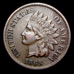 1865 Indian Cent Penny ---- Nice Details ---- E206