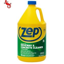 Zep Driveway And Concrete Cleaner And Degreaser Concentrate, 128 Oz
