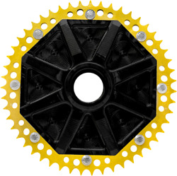Alloy Art Universal Cush Drive Chain Conversion System 53 Tooth Black/gold