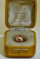 One Of A Kind Antique Imperial Russian Faberge Miniature 14k Gold Photo Locket