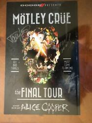 Motley Crue Final Tour Litho Signed X4 Tommy Lee Full Coa From Roger Epperson