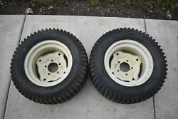 Sears St/16 Suburban Tractor Rear Rims And Tires 23x9.50-12