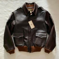 New With Tags Rrl Calfskin Jacket A2 Size Xs Flight Full-grain Italian Leather