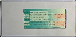 Mike Tyson Vs Michael Spinks On-site Trump Plaza Boxing Ticket Stub W/ Holder