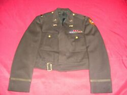 Beautiful Wwii Named 818th Tank Destroyer Battalion Officers Ike Jacket