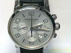 Timewalker 7069 Chronograph Date Silver Dial Menand039s Watch From Japan
