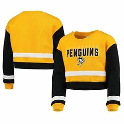 Pittsburgh Penguins Girl's Youth Fan Moment Pullover Sweatshirt - Gold
