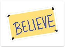 Ted Lasso Believe Sticker Decal Soccer Football Locker Room Roy Kent Quote New