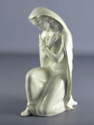Gerold Vintage Statue Madonna Porcelain White And Gold Period Xx Century