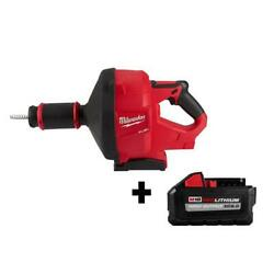 Milwaukee Drain Cleaning Snake Auger 18-volt Lithium-ion 5/16 In. Cable Drive