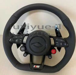New Leather Pack Steering Wheel With Four Buttons For Audi R8 Old To New 2010+