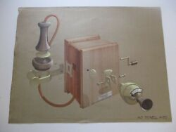 Anthony Powell Drawing Painting Design Early Antique Technology Invention Old