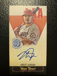 2021 Topps Gypsy Queen Mike Trout Captains Mini Autograph Auto 12/50