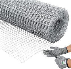 36and039and039 X 100and039 1/2inch Hardware Cloth 19 Gauge Galvanized Welded Cage Wire Poultr