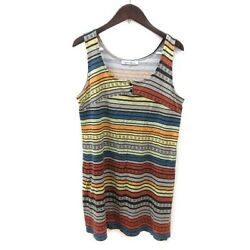 Hysterical Glamour Hysteric Dress Mini Border Print Sleeveless Multi Colored Ms