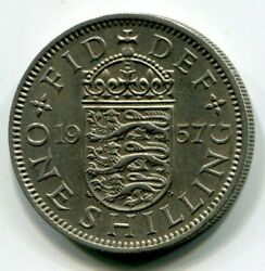 Foreign Coin - Great Britain - One Shilling 1957 English Crest