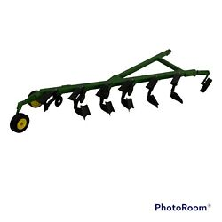 1/16 Scale John Deere 6 Bottom Plow Farm Toy Tractor Implement Ertl Parts / Play