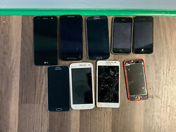 Lot Of 9 Bundle Of Untested Cell Phones Various Models As-is For Parts Only