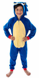 Sonic The Hedgehog Boysand039 Character Costume Union Suit Pajama Outfit