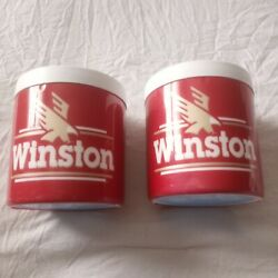 Vintage 1991 Winston Cigarettes Insulated Can Koozie Cooler The Fridge- Lot Of 2