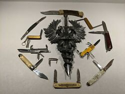 Buck Knives Model 110 Knife And 309, Imperial ,colonial, Lee Point, 11 Pc. Lot