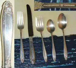 International Sterling Silver- Prelude 8 Place Setting 40 Piece Knife Fork Spoon