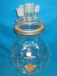 Ace 12000ml Round Bottom Flask With 4 Neck Reaction Vessel Head 29/42 And 45/50