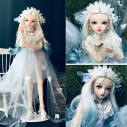 1/3 24 In Bjd Doll Ball Jointed Girl Replace Wig Eyes Clothes Diy Birthday Gift
