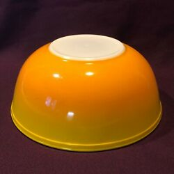 Htf Pyrex Promotional 404 Pineapple Party Chip And Dip Bowl Ombre Orange Yellow