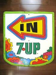 Signboard Rare 1970 Andrsquos 7up Fresh Up Petermax Embossed Steel Vintage Advertising