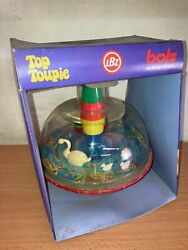 Lbz Lorenz Bolz Tin And Plastic 7 Spinning Top Toy Mib Vintage West Germany
