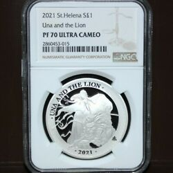 Highest Appraisal 2021 Una And The Lion Pound Silver Coin Ngc