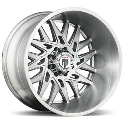 4-american Truxx At184 Dna 24x14 5x5 -76mm Brushed Wheels Rims 24 Inch