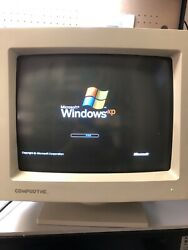 Vintage 1995 Compudyne Md-14i+ Vga Crt Computer Monitor 14andrdquo Inch White Gaming
