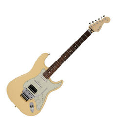 178666 Fender Made In Japan Limited Stratocaster With Floyd Rose Vintage White