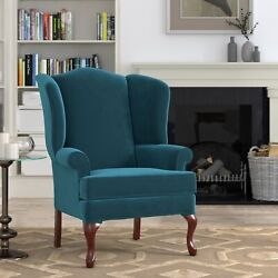 Estella Wingback Queen Anne Accent Chair By Greyson Living Blue See Product Desc