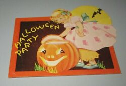Antique Halloween Party Invitation 1936 Hi 14 Made In Usa Used