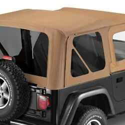 For Jeep Wrangler 97-02 Bestop 79124-37 Replace-a-top Spice Sailcloth Soft Top
