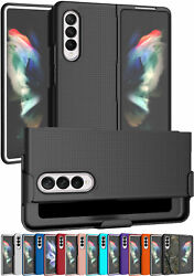 Hard Case Cover And Belt Clip Holster Stand For Samsung Galaxy Z Fold 3 5g Fold3