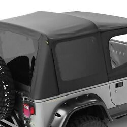 For Jeep Wrangler 88-95 Bestop 79123-01 Replace-a-top Black Sailcloth Soft Top