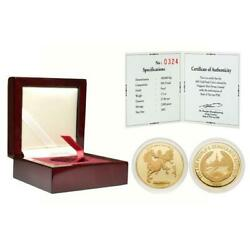 Laos 2002 Year Of The Horse 1/2 Oz Gold Proof Coin With Coa And Box Sku 1214