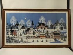 Framed Wooster Scott Litho The Trolley Car At Crippen Creek 517/795 Wide 18x36