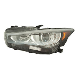 New Aftermarket Driver Side Headlight Assembly 260606hh7a