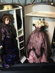 Franklin Mint Gibson Josephine Doll Trunk/wardrobe And 4 Outfits