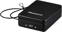 Sentrysafe 8 Combination Lock Box Portable Travel Security Safe With Cable