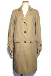 Outer Trench Coat Ladies 36 Beige Cotton 432 Secondhand Daikokuya