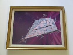 Anthony Powell Painting Outer Space Ufo Vintage Technology Alien Craft Ship
